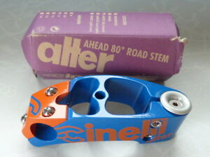 "Cinelli Alter stem Vintage Threadless 110mm blue/orange Bicycle 1"" New LAST NOS"