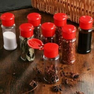 12x 100ml Spice Jars Salt Seasoning Bottles Barbecue Condiment Container Cruet