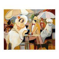"Isaac Maimon ""Charlie's Proposal"" Acrylic on Canvas Signed Original Artwork COA"