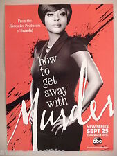 """How To Get Away With Murder"" TV Series PRINT AD - 2014 ~~ Viola Davis"