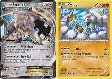 Steelix EX 67/114 + Onix 61/116 - Near Mint - Pokemon