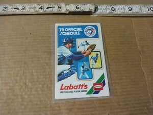1979 Toronto Blue Jays Baseball Schedule Sponsored By Labatts Beer