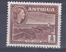 ANTIGUA, QE11, 1953 DEFINS, 1/2d, FORT JAMES, SG 120a MNH, SINGLE