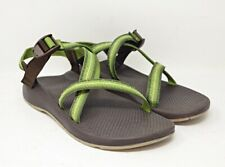 Chaco Classic Z/1 Sport Sandal Womens Sz 12 Green Brown Vibram Sole