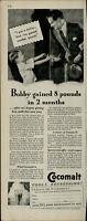 1931 Cocomalt Cool Refreshing Drink For Kids Vitamin D Vintage Print Ad 2888