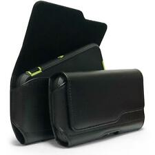 BLK Leather Belt Clip Loops Holster Pouch For Samsung Galaxy Fits with Otterbox