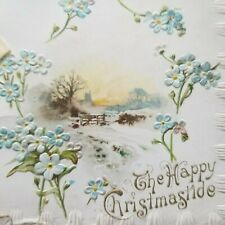 The Happy Christmas tide Vintage Book Greeting Card H S Hammond Art Litho Pub Co