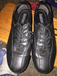 Womens Size 91/2 Black Leather Casual Shoes By Hotter Comfort Concept Brand New.