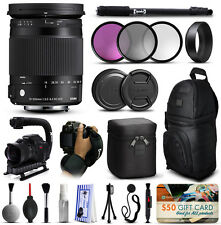 Sigma 18-300mm F3.5-6.3 DC Macro OS HSM C Lens for Nikon + Deluxe Accessory Kit