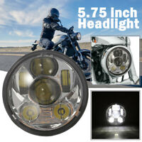 """5.75"""" CREE Chrome LED Headlight For Honda Shadow ACE Sabre Spirit VLX 600 750"""