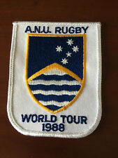 Vintage A.N.U Rugby Union Embroidered Cloth Patch World Tour 1988