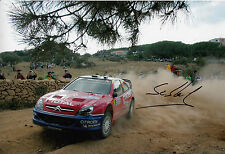 Sebastien Loeb Hand Signed Citroen Total Rally 12x8 Photo.