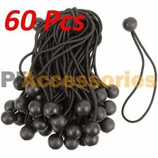 "60 Pcs Heavy Duty 6"" inch Ball Bungee Cord Tarp Canopy Tie Down Strap (Black)"