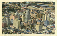 Postcard A Late Aerial View of the Business District, Houston, TX