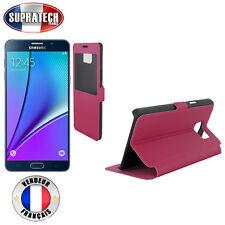 Etui Rabattable Fuchsia Avec Ouverture Ecran pour Samsung Galaxy Note 5 N920