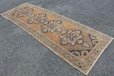 "Vintage Handmade Turkish Oushak Hallway Runner Rug 115""x38"""