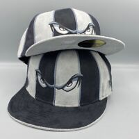 Lake Elsinore Storm MiLB All Suede Black and Gray Hat Gray Bottom