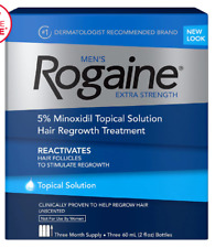 Rogaine Men's Extra Strength Topical Solution 3 month Hair Regrowth Treatment