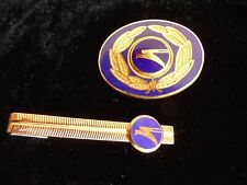 Branded Cockade +  Tie Clip Ukraine International Airlines Aviation
