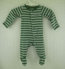 Doll Clothes Carter's Green and Grey Striped Sleeper Newborn Infant Outfit
