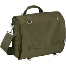 Brandit Large Cotton Canvas Bag Hiking Satchel Work Travel Shoulder Pack Olive