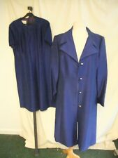 Ladies Outfit Rozlynne coat & dress royal blue to fit UK 16-18, custom made 2180