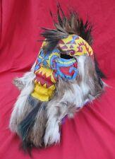 Mexican Folk Art Outrageous Leather & Fur Tribal Werewolf Demon Mask