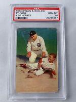 1953 Brown & Bigelow Ty Cobb 4 of Hearts PSA 10 GEM MT