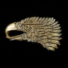 'Eagles Head' 3D Brass Belt Buckle NEW