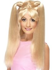 Blonde Baby Power Spice Girls Wig Long Pony Tails Fancy Dress