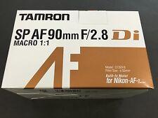 New TAMRON Camera Lens For Nikon SP AF90mm F2.8 Di MACRO 1:1 272ENII Japan