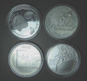 2002,2004,2009,2011 FINLANDE 10 euro COMMEMORATIVE (Total 4 pieces)