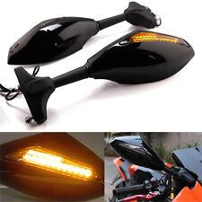 MOTORCYCLE REAR VIEW SIDE MIRROR WITH LED TURN SIGNAL FOR KAWASAKI HONDA SUZUKI