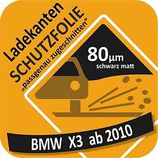 BMW X3 -F25- Autofolie Ladekantenschutz Lackschutzfolie Schutzfolie schwarzmatt