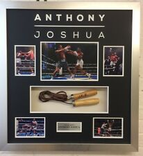 Anthony Joshua Signed & Framed Skipping Rope PROOF AFTAL COA (A)