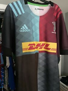 Harlequins Adidas Rugby Jersey NWOT XL