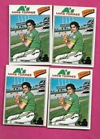 RARE 4 X 1977 OPC # 144 OAKLAND AS MIKE TORREZ  CARD (INV# C1999)