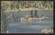 Postcard BIG BEAR LAKE CA  Treasure Island Houses/Homes Aerial view 1930's