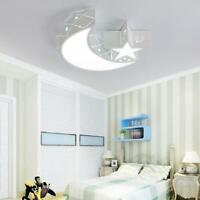 Led Ceiling Lights Child Kids Girls Bedroom Lighting Chandeliers Moon Star Lamps