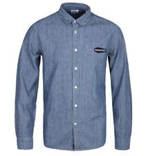 New Mens Edwin Jeans Japan Goodnight Best Blue Heavy Stone Wash Denim Shirt S BN