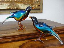 Exotisches Vogel Set Kristall Glas Kunst Statue Figur Skulptur Luxus Stil Murano