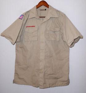 BOY SCOUTS Of America POPLIN Uniform Shirt BSA s/s Scout Adult Mens : MEDIUM Md