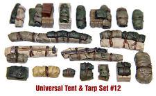 1/35 Scale Resin kit Tents & Tarps Set  #12 resin vehicle stowage set