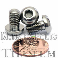 TITANIUM M6 x 10mm - DIN 9427 BUTTON HEAD Socket Cap Screw - BHCS - Ti Hex Allen
