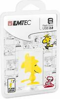 EMTEC Peanuts Woodstock 8GB Flash Drive USB 2.0 Thumb Stick Jump Data Memory