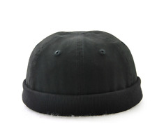Fashion Miki Cap Cotton skull cap Beanie hat Black Army green Short Watch cap