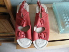 Fly Flot Anatomic Size 39 (6) Italian Comfort Red Suede Open Toe Sandals.New.
