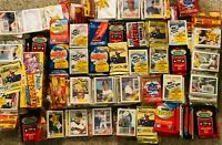 GIANT Lot of 100 Old Vintage Baseball Cards in Unopened Wax Cello Rack Packs