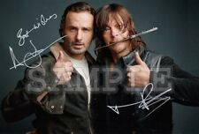 Norman Reedus & Andrew Lincoln signed 5x7 Autograph Photo RP - The Walking Dead
