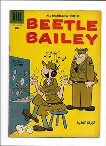 "BEETLE BAILEY #13 [1958 VG+]  ""ATHLETE'S FEATS""    DELL COMICS"